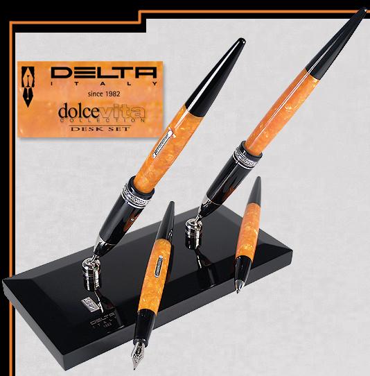Miraculous Dolcevita Deskset Delta Pens Home Interior And Landscaping Oversignezvosmurscom